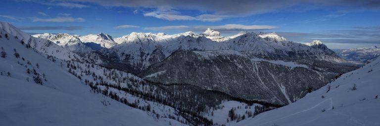 Panorama : le Chablais (et la Haute Cime)